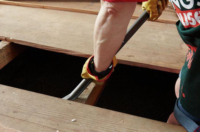 DIY Step Image - How to remove floorboards . Blob storage upload.