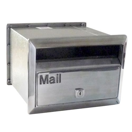 Velox 230mm Polished Silver Flexi Front Open Letterbox