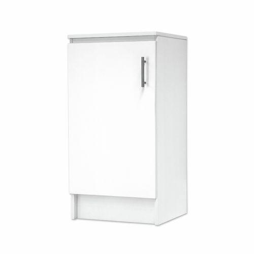 Bedford 450mm White 1 Door High Moisture Resistant Base Slimline Cabinet