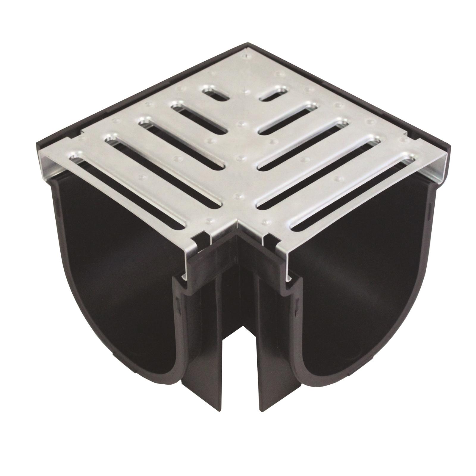 Everhard EasyDRAIN Galvanised Metal Grate & Corner