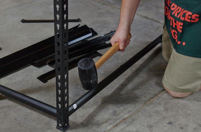 DIY Step Image - How to build garage shelves . Blob storage upload.