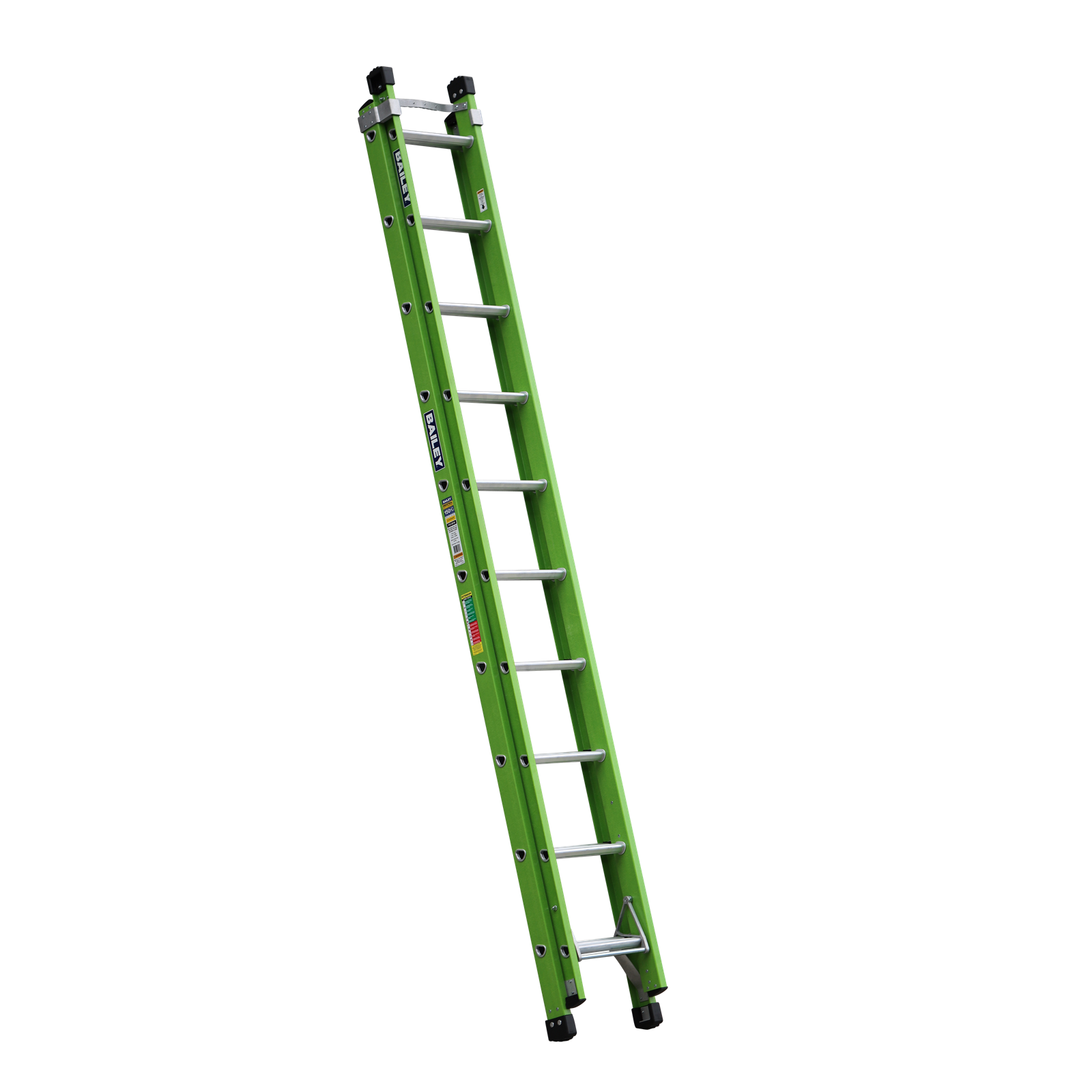 Bailey 3.2-5.3m 150kg Industrial Rated Pro 10 Rung Fibreglass Extension Ladder