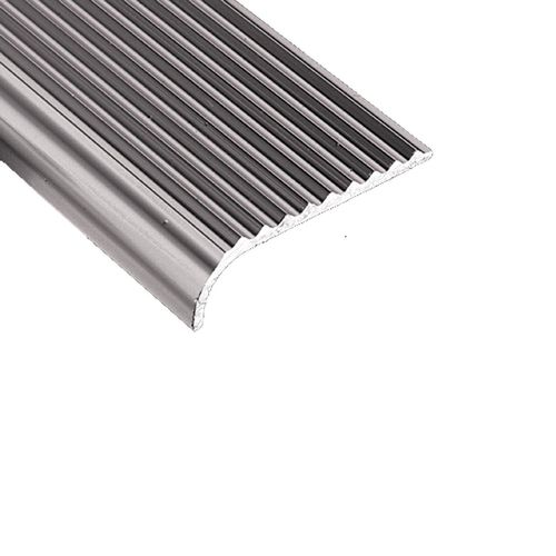 Roberts 45mm x 2m Silver Bullnose Stair Tread