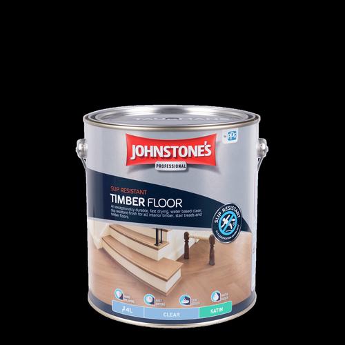 Johnstone's 4L Clear Satin Interior Slip Resistant Timber Floor Finish