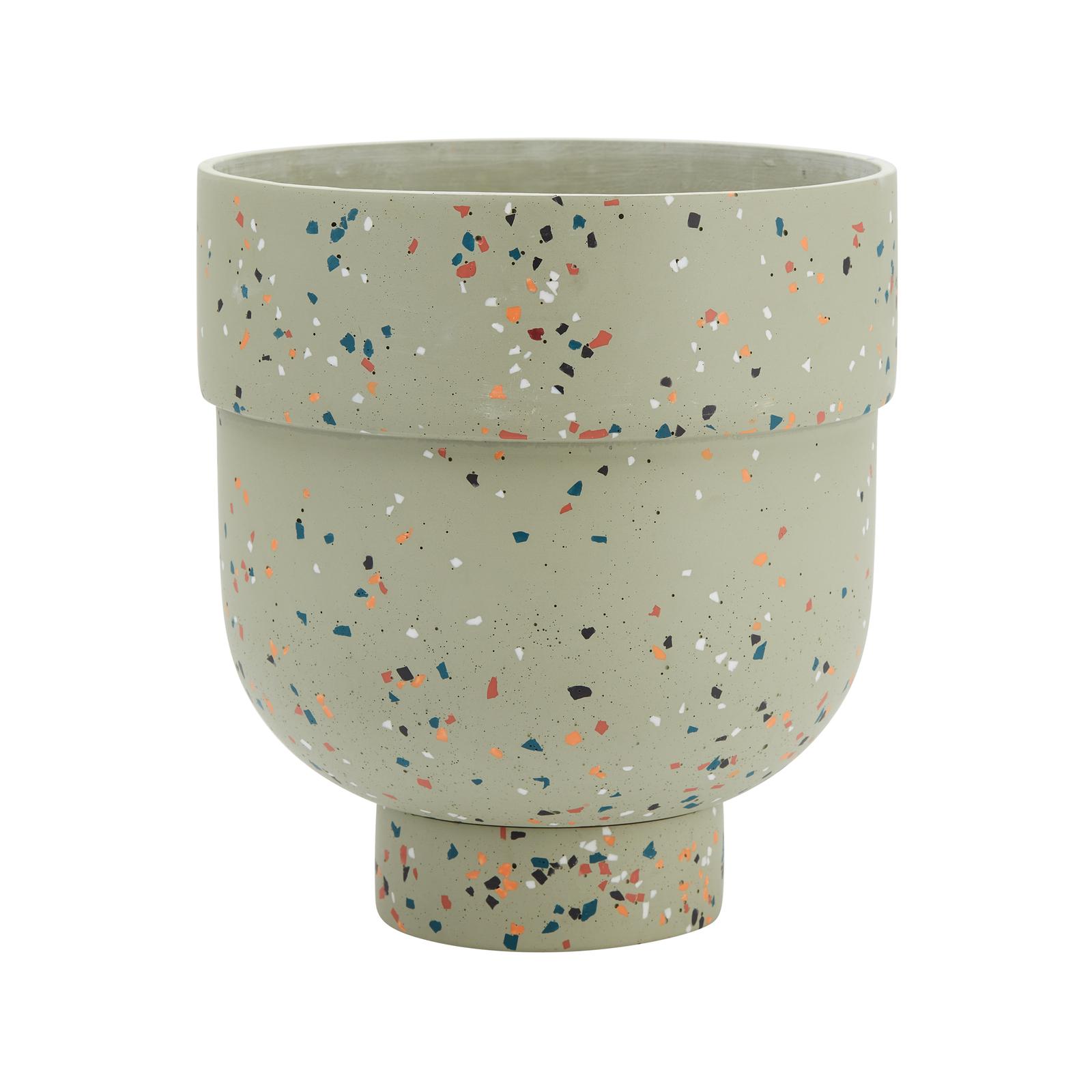 Capra 22.2 x 24.6cm Gum Leaf Funnel Terrazzo Resin Pot