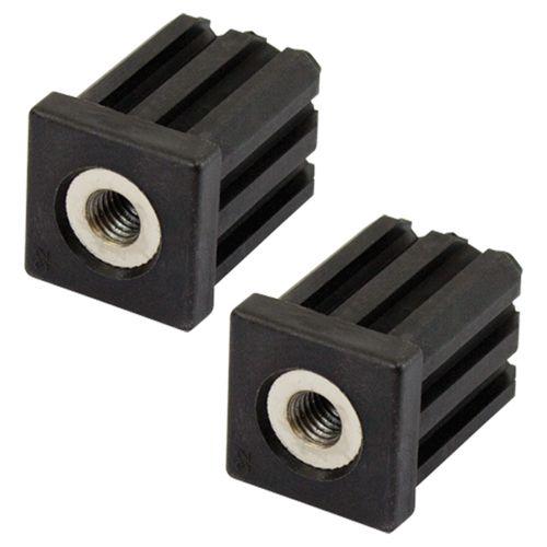 Richmond 32mm x M10 Square Threaded Tube Insert - 2 Pack