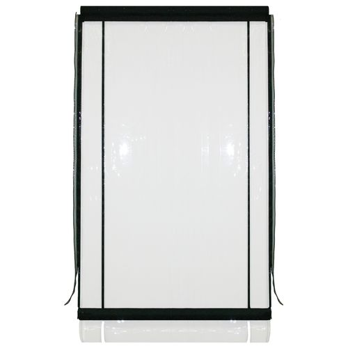 Bistro Blinds 0.75mm PVC Outdoor Blind - Clear / Black 1200mm x 2400mm
