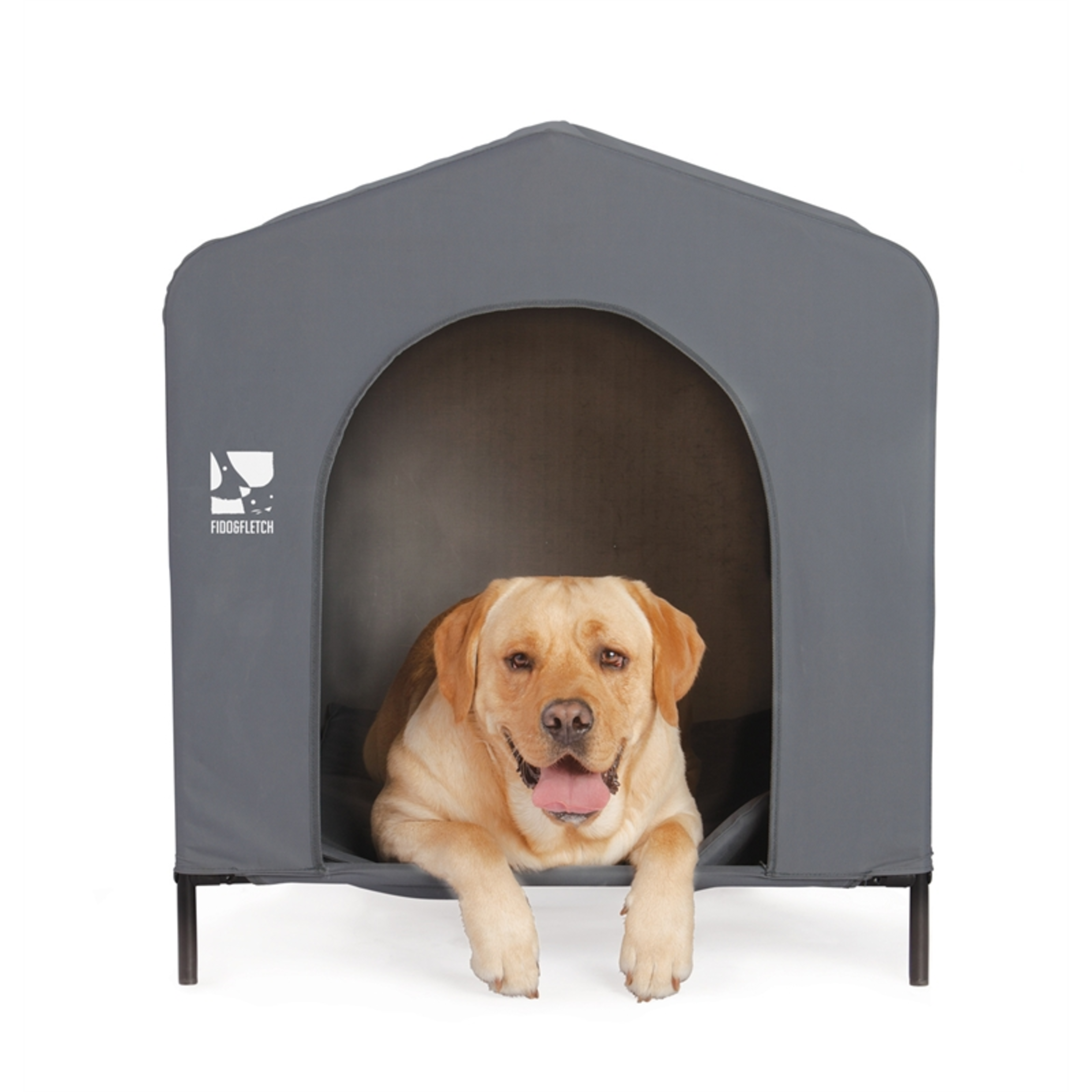 Large dog in soft kennel