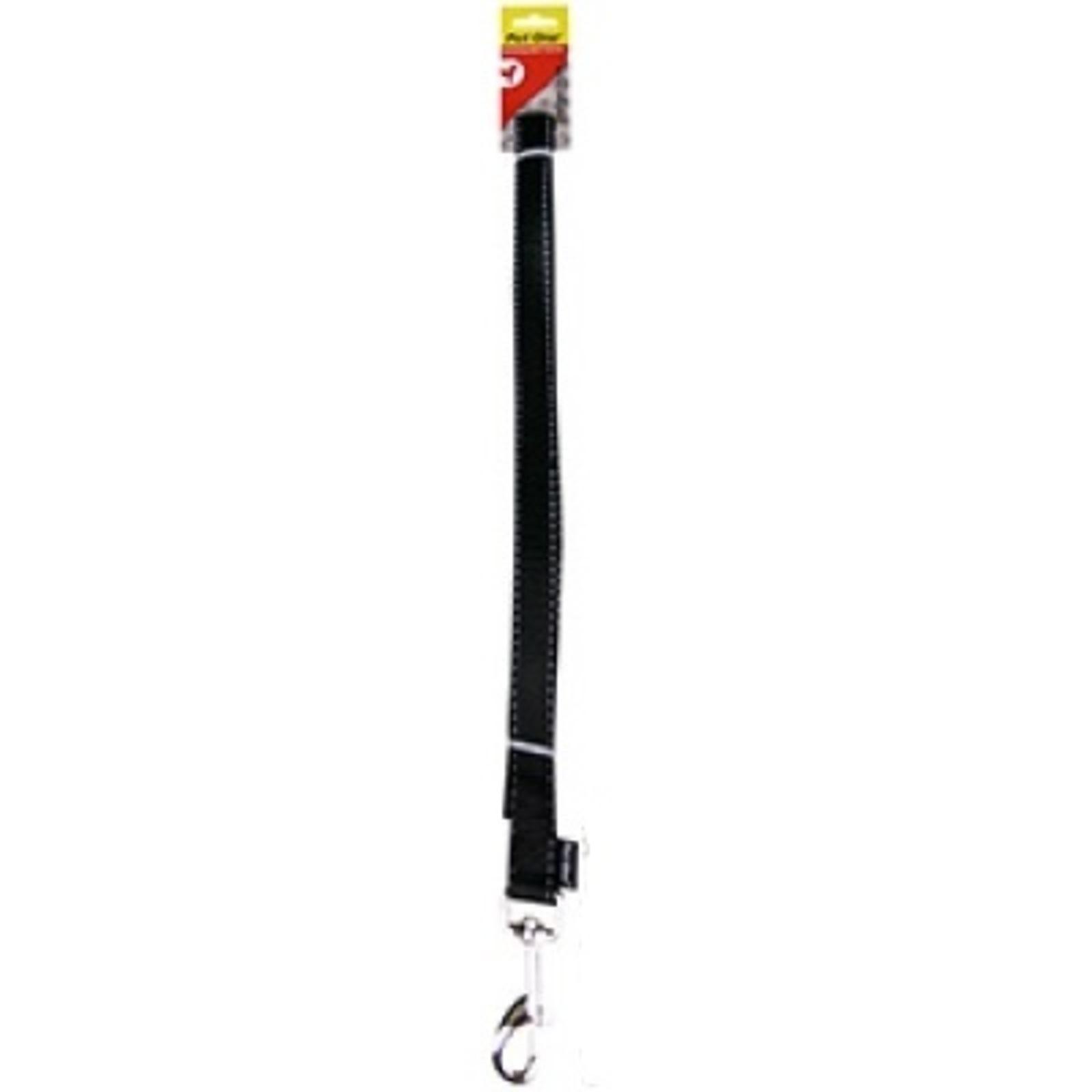 Dog Leash Lead Reflective Nylon - Black - 25mm x 120cm (Pet One)