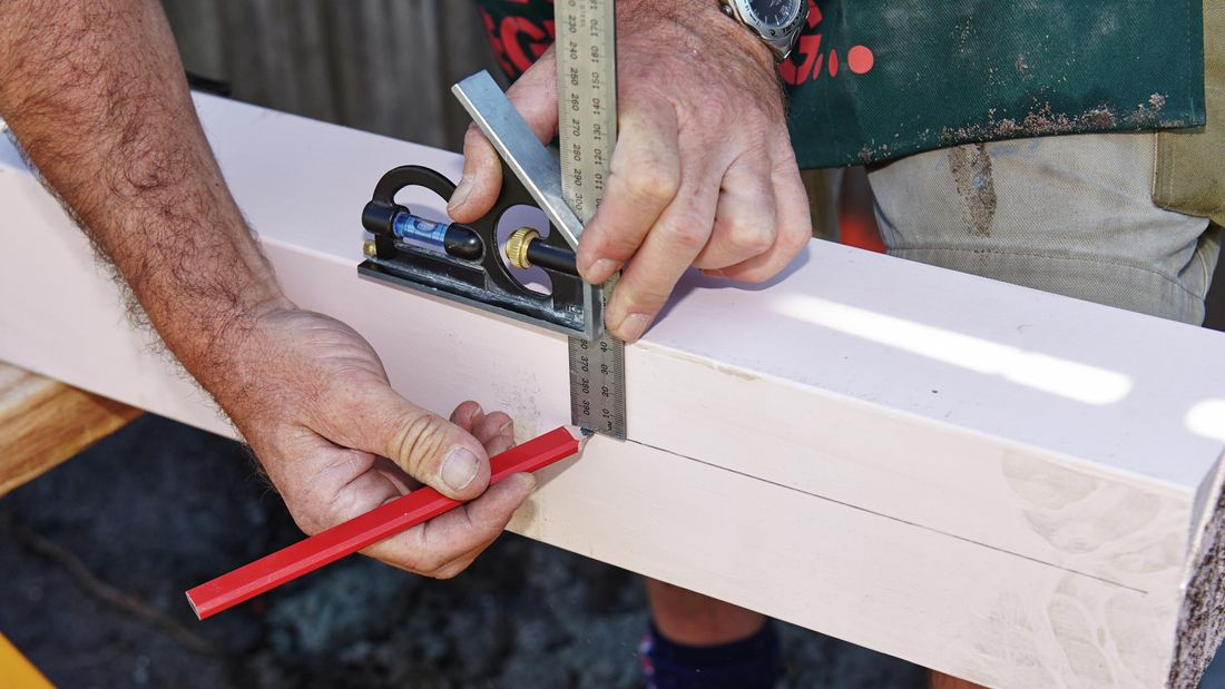 DIY Step Image - How to install posts and beams for a carport . Blob storage upload.