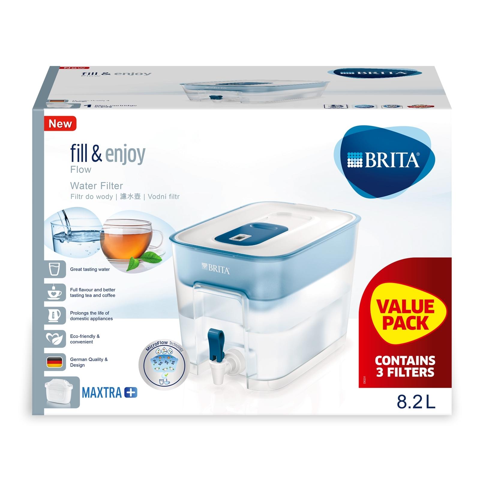 Brita 8.2L Soft Blue Flow Including 3 Filters