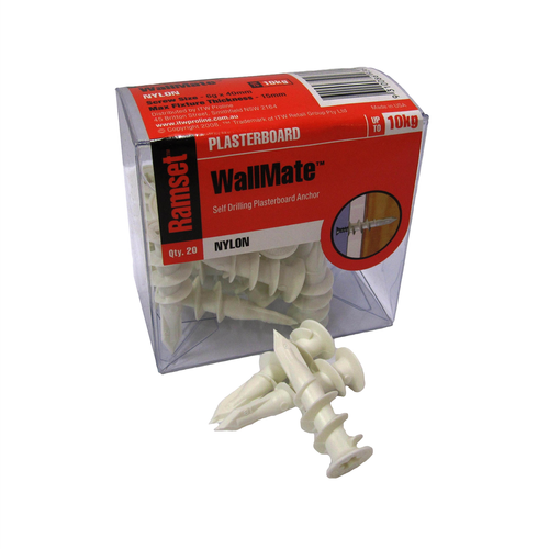 Ramset Nylon Wallmate Anchors - 20 Pack