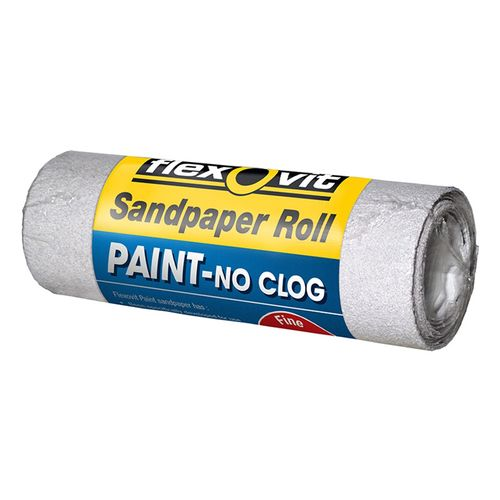Flexovit 115mm x 1m 120 Grit Painted Surface Sandpaper Roll