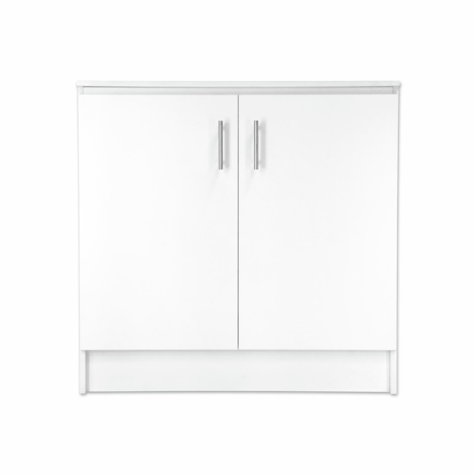 Bedford 900mm White 2 Door High Moisture Resistant Base Slimline Cabinet