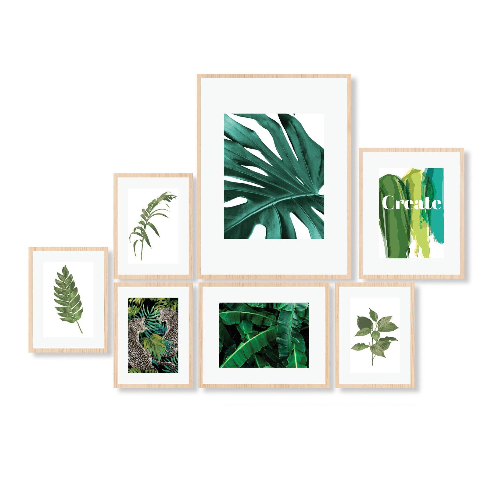Cooper & Co. Instant Gallery Wall 7 Piece Frame Set Oak