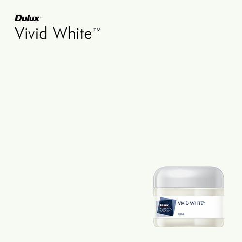 Dulux 100ml Vivid White Sample Pot