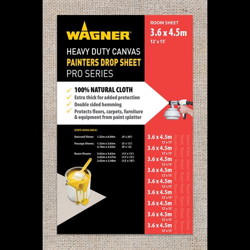 Wagner 3.65 x 4.57m Heavy Duty Canvas Drop Sheet
