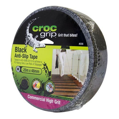 Croc Grip 48mm x 25m Black Anti-Slip Tape