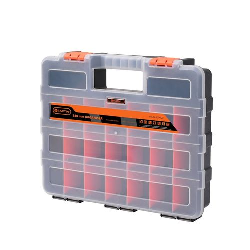 Tactix 380mm 22 Compartment Organiser Storage Box