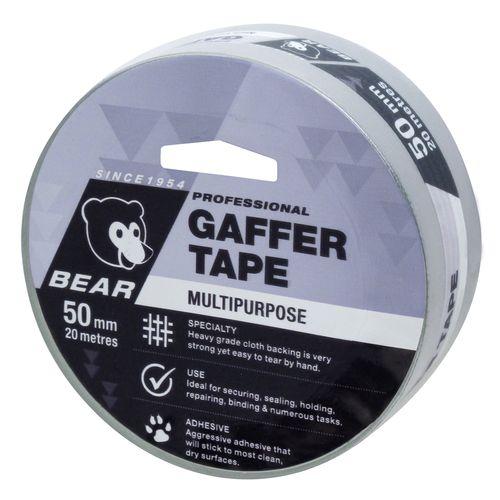 Bear 50mm x 20m Silver Multipurpose Gaffer Tape