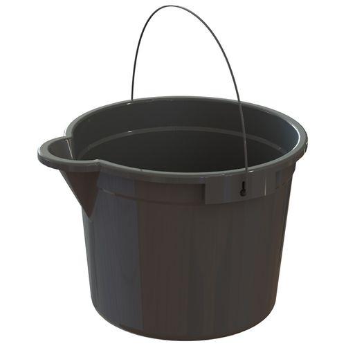 HomeLeisure 15L Charcoal Trend Bucket