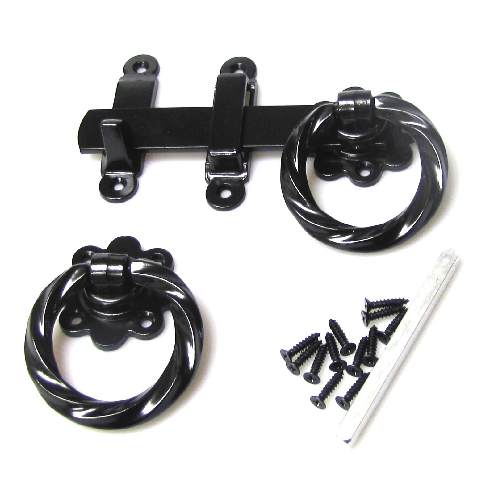 Gartner Gate Latch Ring Black 150mm