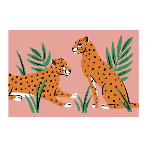 Smart Home Products 60 x 40cm Two Big Cats Blush Coir Outdoor Mat