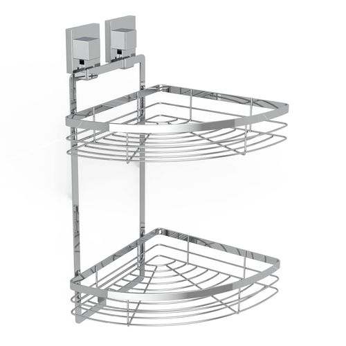 Fusion-Loc 26kg Stainless Steel Double Corner Shower Caddy