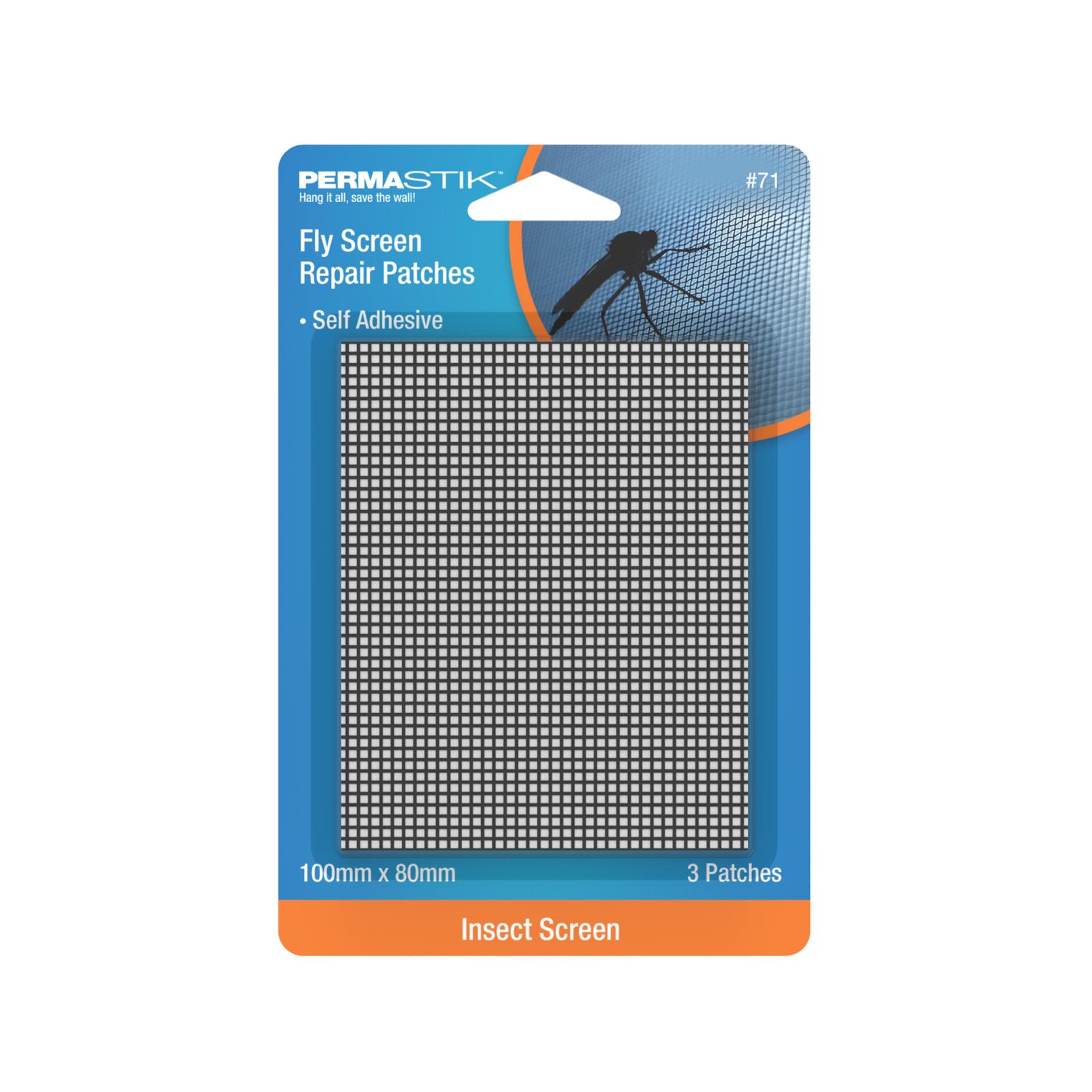 Permastik Fly Screen Repair Patches - 3 Pack