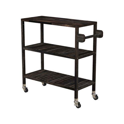 Interbuild 80 x 35 x 85cm Espresso Holger Turbo Kitchen Cart