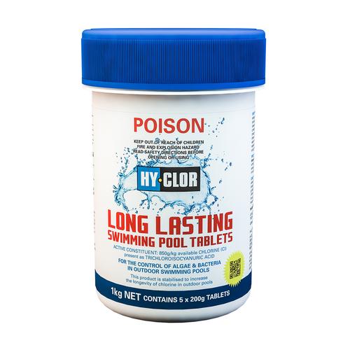 Hy-Clor 1kg Long Lasting Pool Chlorine Tablets