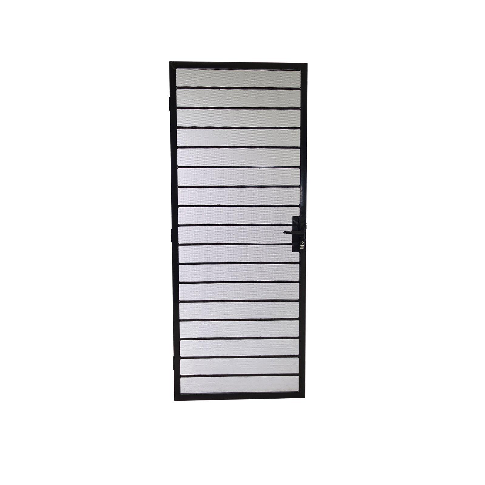 Polar 2032 x 813mm Black Hamilton Metric Steel Screen Door