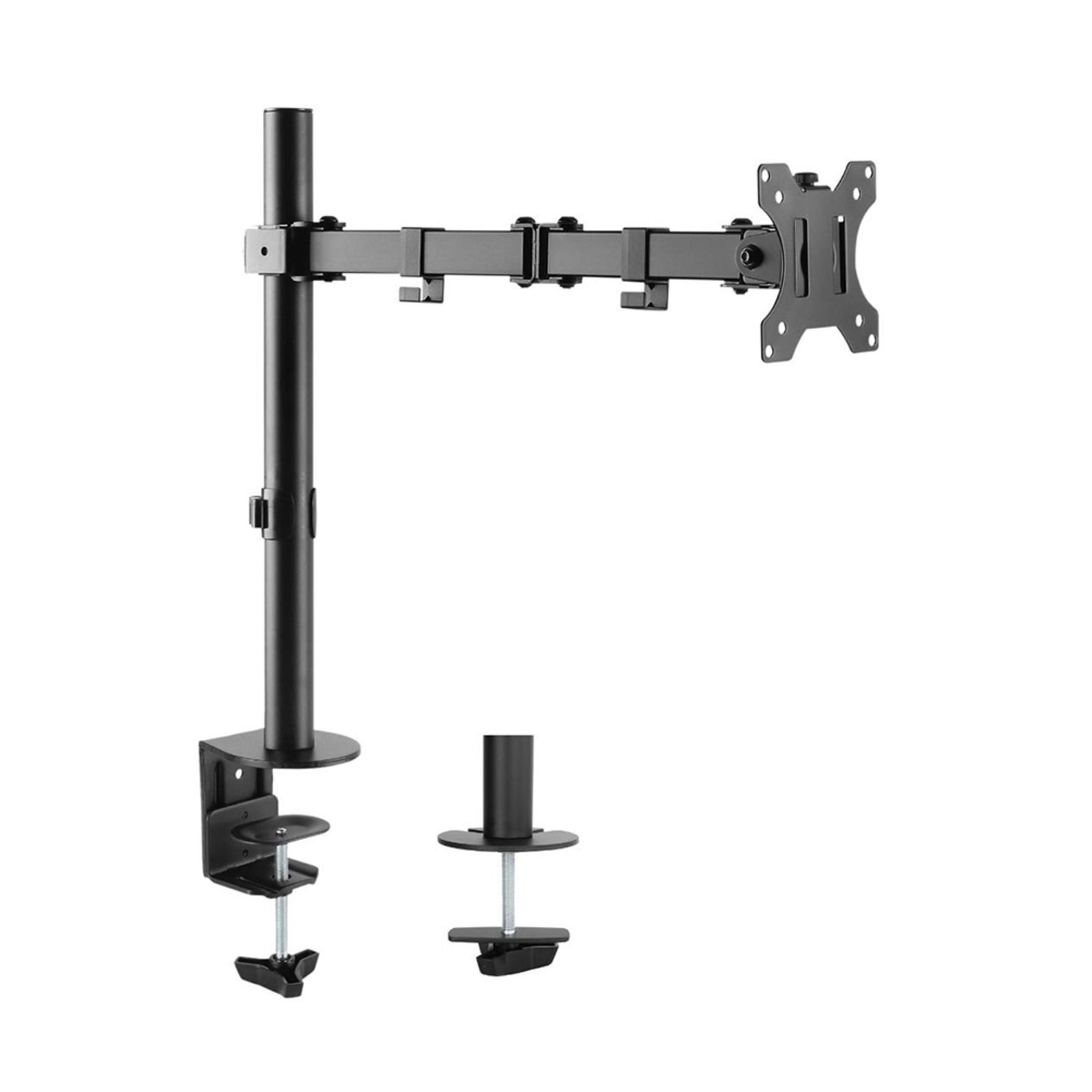 """Activiva 13"""" to 32"""" Single Monitor Screen Bracket Tilt/Rotate Arm for Desk Mount"""