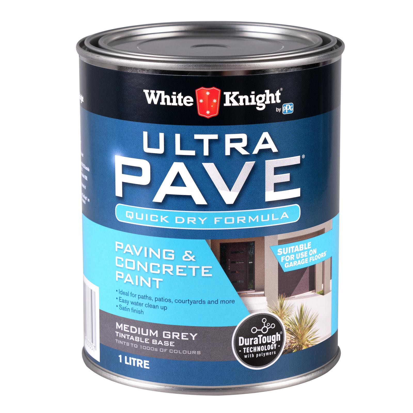White Knight 1L Medium Grey Ultra Pave Quick Dry Paint