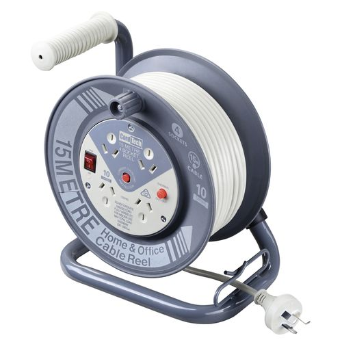 CordTech 15m Cable Reel With 4 Outlets