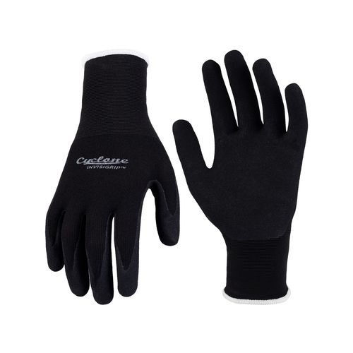 Cyclone Medium Black Sculpt Invisigrip Tough Gardening Gloves