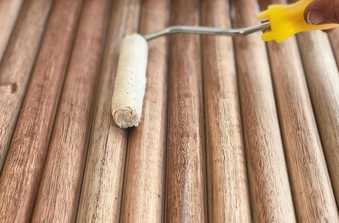 DIY Advice Image - How to make a dowel feature wall. G Drive blob storage upload.