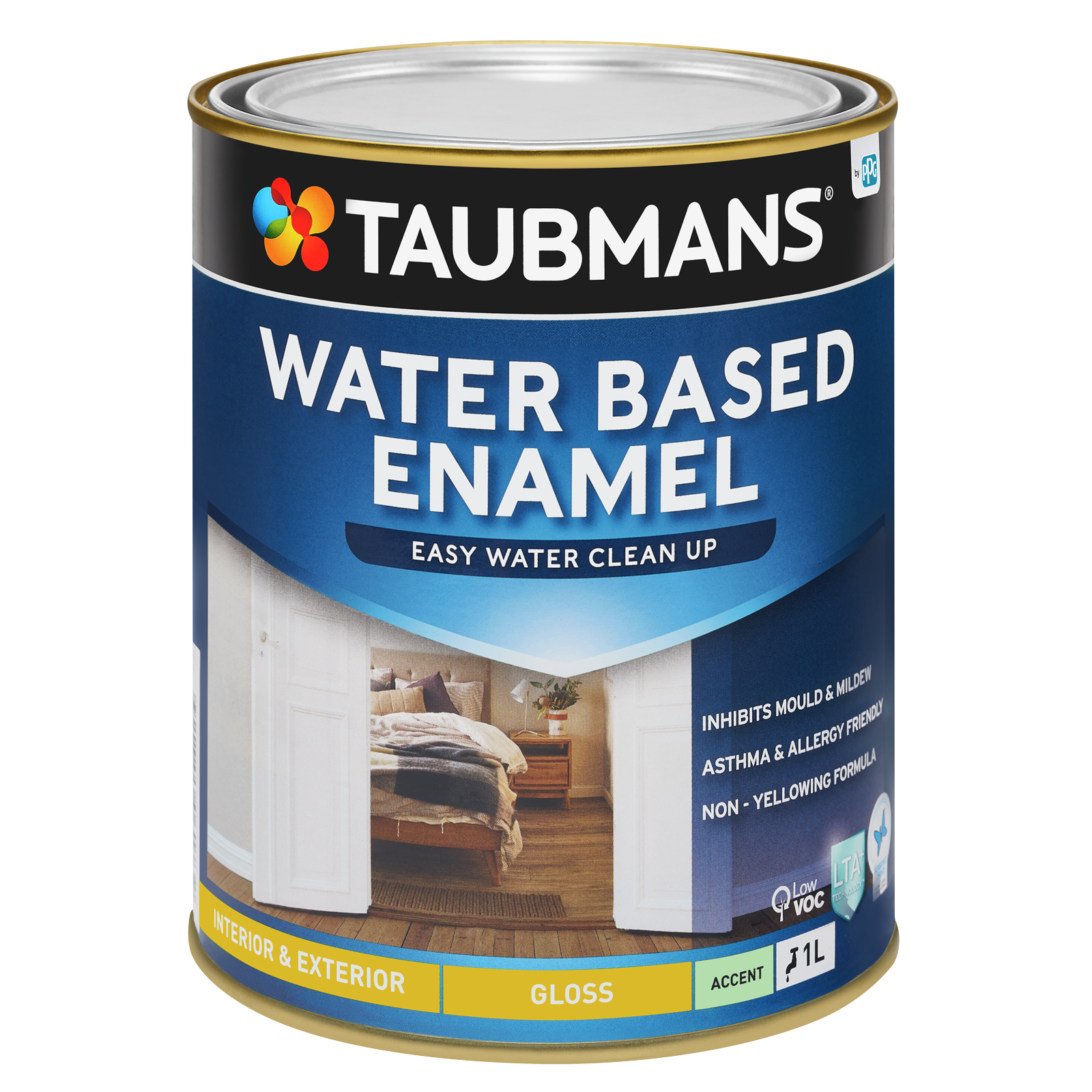 Taubmans 1L Accent Gloss Water Based Enamel