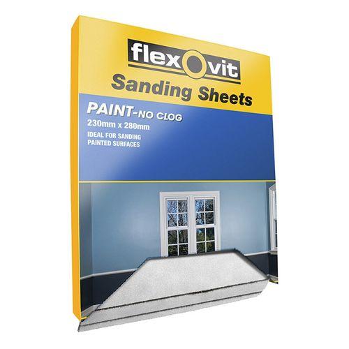 Flexovit 120 Grit Sanding Sheet For Painted Surfaces 230 x 280mm