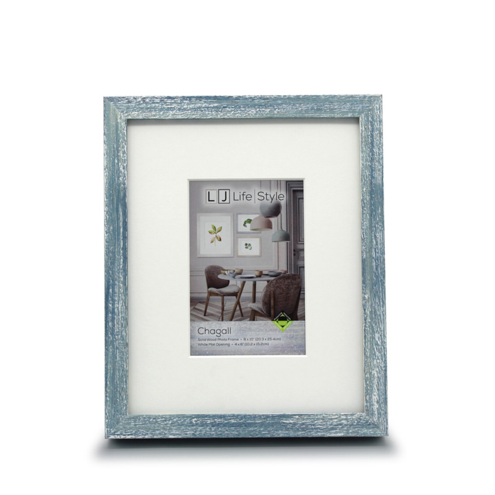 Chagall 8 x 10inch/4 x 6inch Opening Blue Photo Frame