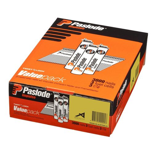 Paslode Impulse 65 x 2.87mm HDG Ring Round Drive Nail - 3000 Pack