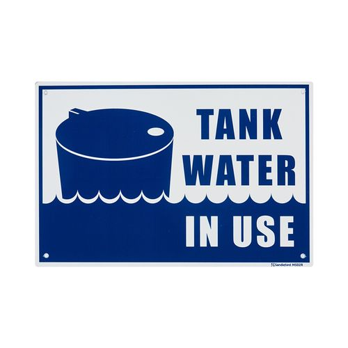 Sandleford 300 x 200mm Tank Water In Use Plastic Sign
