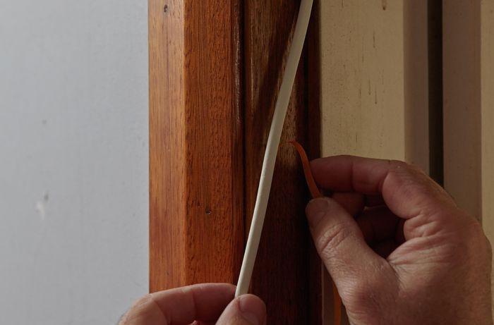 DIY Step Image - How to seal a door . Blob storage upload.