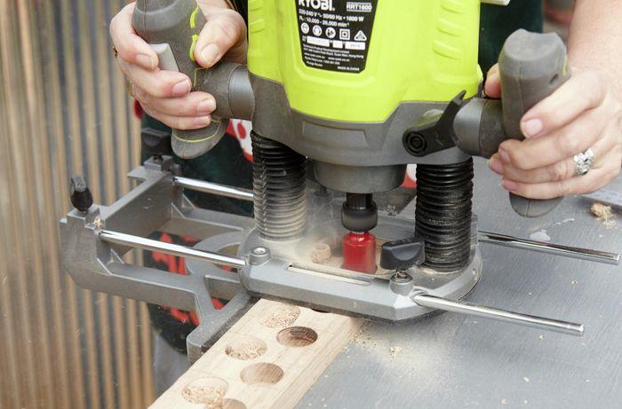 DIY Step Image - How to make a magnetic knife rack. Blob storage upload.