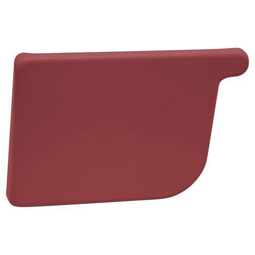 COLORBOND 115mm LH Quad Gutter Stop End - Manor Red