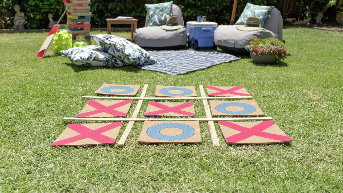 Outdoor noughts and crosses.