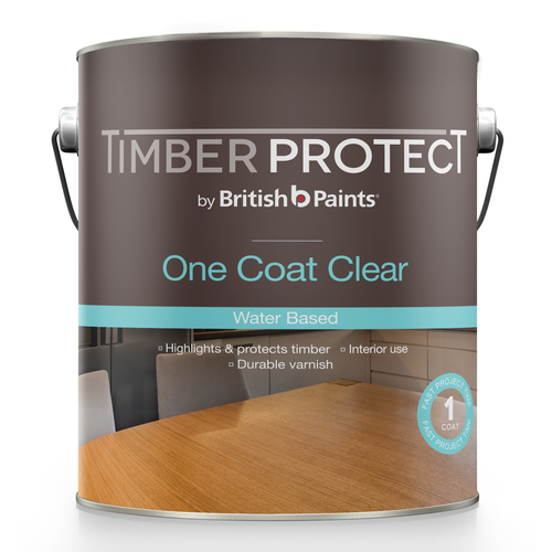 Timber Protect 250ml Satin One Coat Clear Water Based Varnish