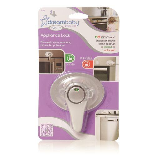 Dreambaby Child Safety Silver Ezycheck Swivel Appliance Lock