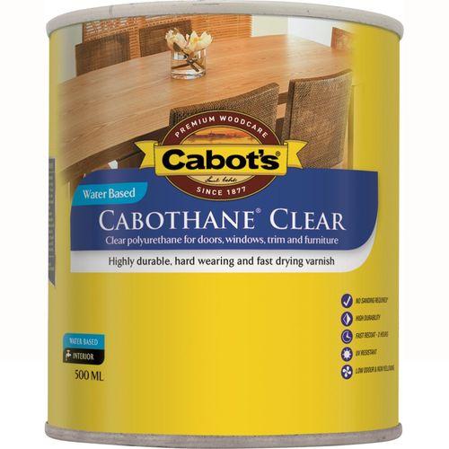 Cabot's 500ml Satin Water Based Cabothane Clear Polyurethane Varnish