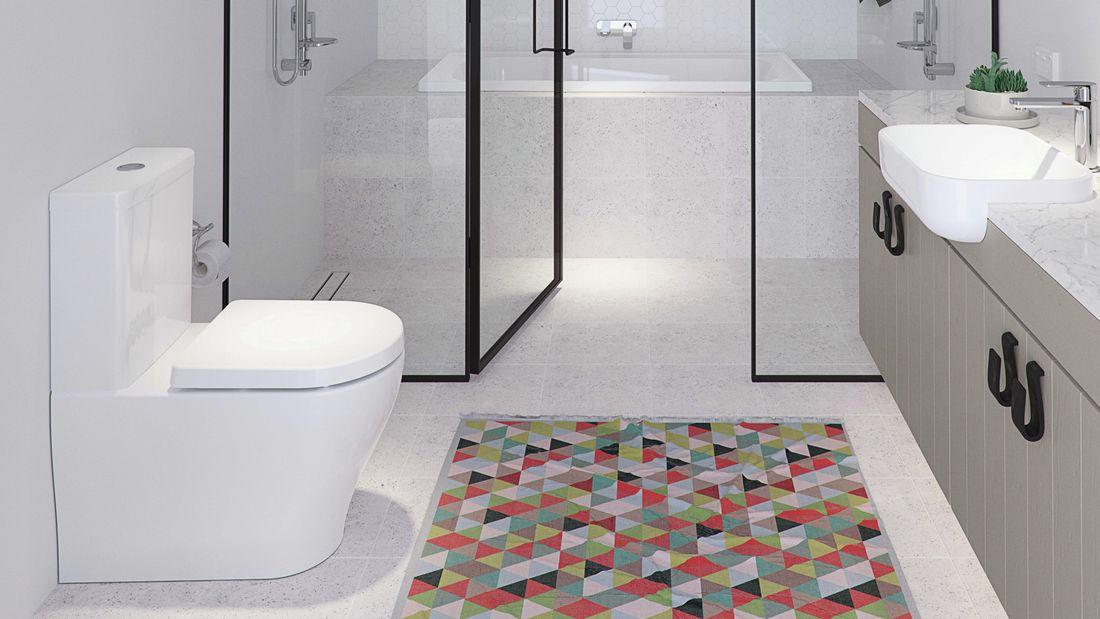 bathroom featuring caroma toilet